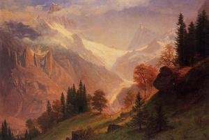 Reproduction oil paintings - Albert Bierstadt - View of the Grunewald