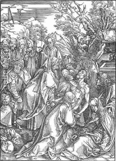 Deposition (Entombment) by Albrecht Durer - Reproduction Oil Painting