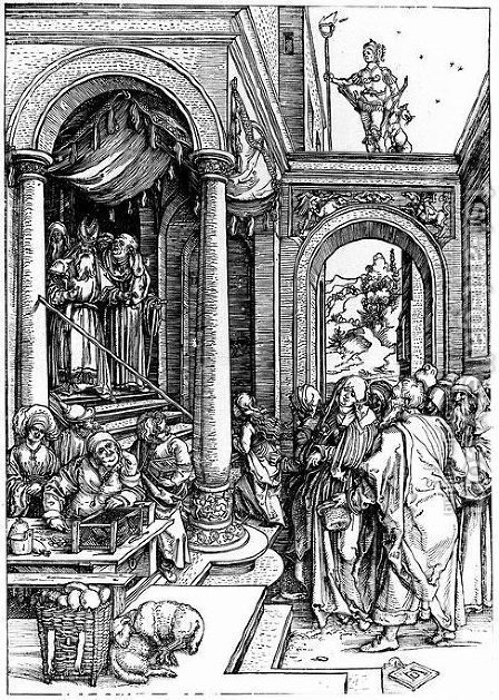 Presentation of the Virgin at Temple by Albrecht Durer - Reproduction Oil Painting
