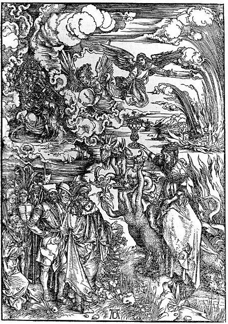 The Woman of Babylon Seated upon a Beast with Seven Heads by Albrecht Durer - Reproduction Oil Painting