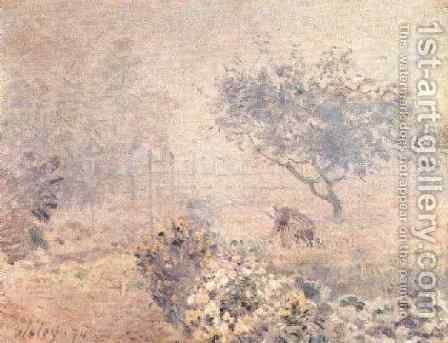 Misty Morning by Alfred Sisley - Reproduction Oil Painting