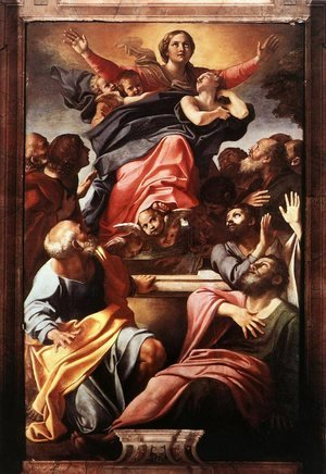 Reproduction oil paintings - Annibale Carracci - Assumption of the Virgin Mary