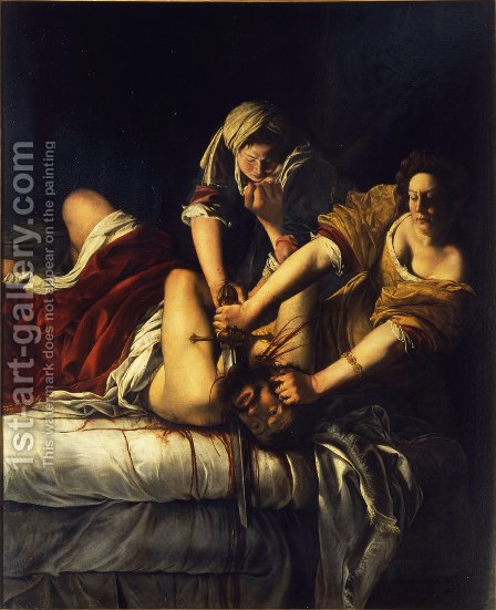 Artemisia Gentileschi: Judith Slaying Holofernes - reproduction oil painting