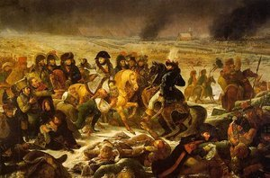 Napoleon on the Battlefield  of Eylau on 9 February 1807