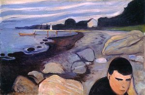 Reproduction oil paintings - Edvard Munch - Melancholy