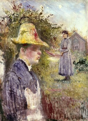 Reproduction oil paintings - Edvard Munch - Sisters In The Garden