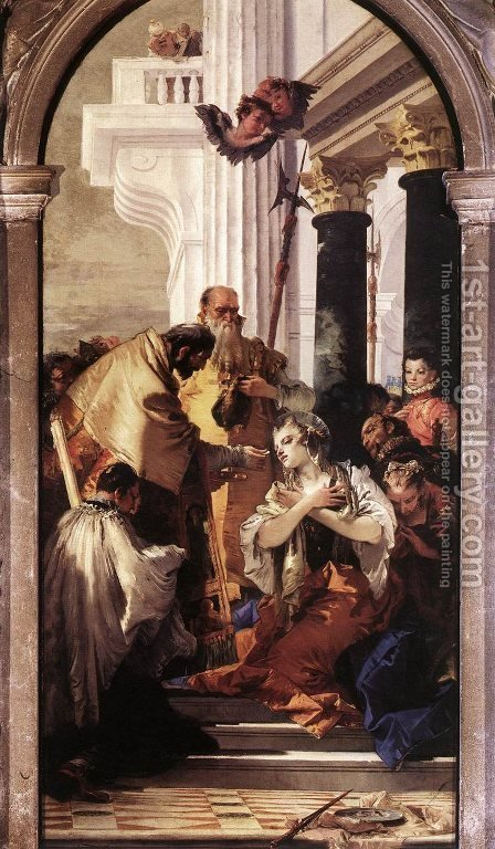 Last Communion of St Lucy by Giovanni Battista Tiepolo - Reproduction Oil Painting
