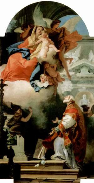 Reproduction oil paintings - Giovanni Battista Tiepolo - The Virgin Appearing to St Philip Neri
