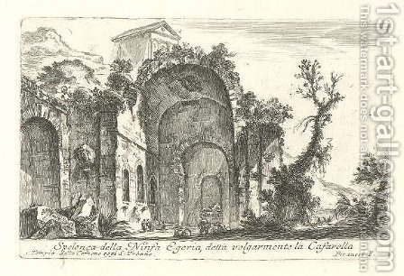 Grotto of the nymph Egeria by Giovanni Battista Piranesi - Reproduction Oil Painting