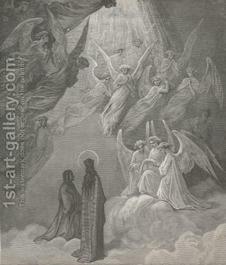 How lustrous was thy semblance in those sparkles,  (Canto XX., line 15) by Gustave Dore - Reproduction Oil Painting
