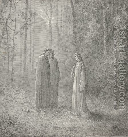 I once was Pia  (Canto V., line 143) by Gustave Dore - Reproduction Oil Painting