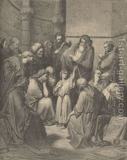 Jesus Questioning The Doctors by Gustave Dore - Reproduction Oil Painting