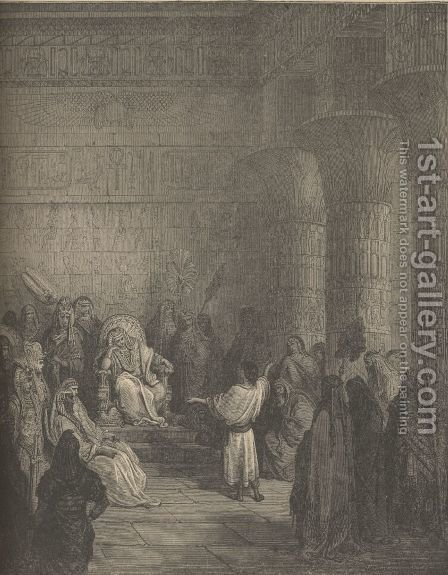 Joseph Interpreting Pharaoh's Dream by Gustave Dore - Reproduction Oil Painting