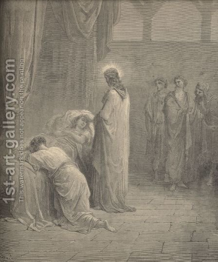 Raising Of The Daughter Of Jairus by Gustave Dore - Reproduction Oil Painting