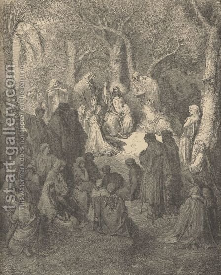 Sermon On The Mount by Gustave Dore - Reproduction Oil Painting