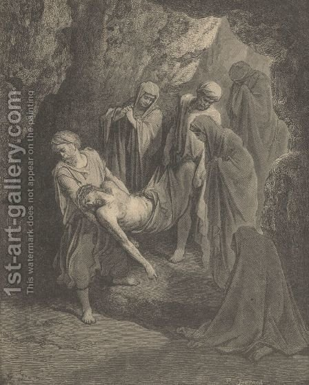 The Burial Of Jesus by Gustave Dore - Reproduction Oil Painting