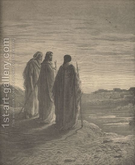 The Journey To Emmaus by Gustave Dore - Reproduction Oil Painting