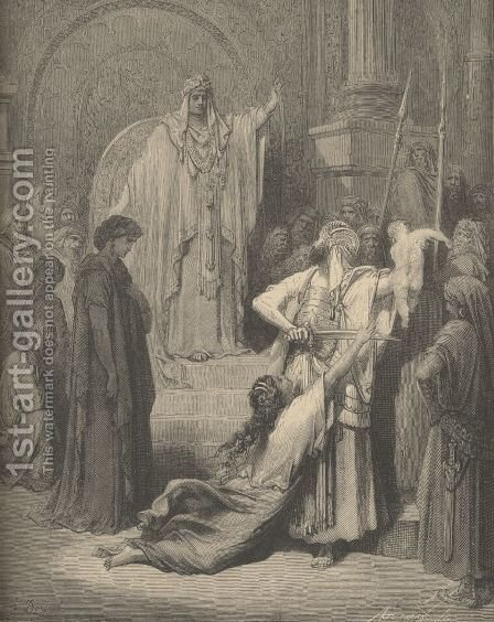 The Judgment Of Solomon by Gustave Dore - Reproduction Oil Painting