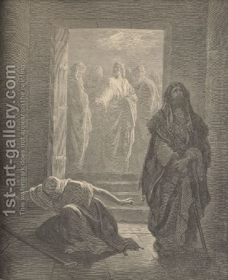 The Pharisee And The Publican by Gustave Dore - Reproduction Oil Painting