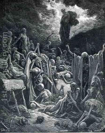 The Vision Of Ezekiel by Gustave Dore - Reproduction Oil Painting