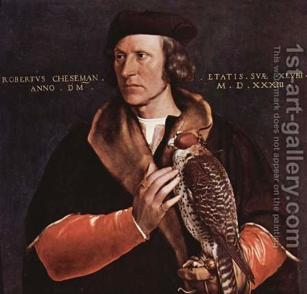 Portrait of Robert Cheseman by Hans, the Younger Holbein - Reproduction Oil Painting