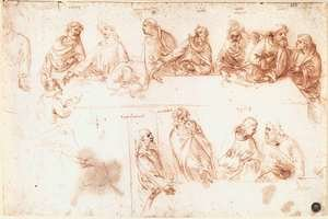 Reproduction oil paintings - Leonardo Da Vinci - Study for the Last Supper 3