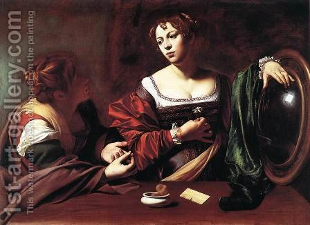 Caravaggio: Martha and Mary Magdalene - reproduction oil painting