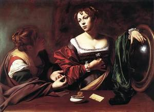 Reproduction oil paintings - Caravaggio - Martha and Mary Magdalene