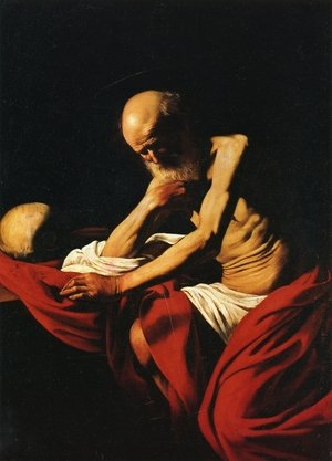 Reproduction oil paintings - Caravaggio - St. Jerome