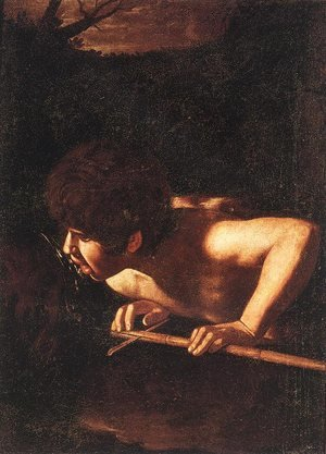 Reproduction oil paintings - Caravaggio - St. John the Baptist at the Well