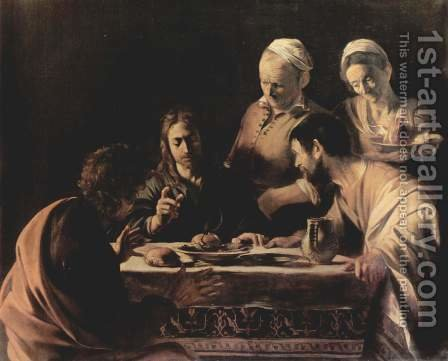 Caravaggio: Supper at Emmaus 2 - reproduction oil painting