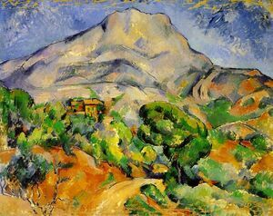 Reproduction oil paintings - Paul Cezanne - Mont Sainte-Victoire above the Tholonet Road