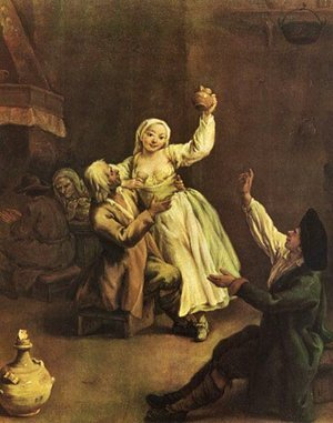 Reproduction oil paintings - Pietro Longhi - Allegra coppia