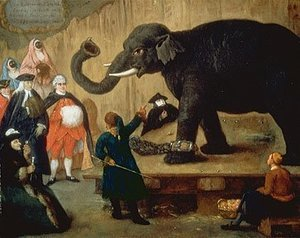 Reproduction oil paintings - Pietro Longhi - The Display of the Elephant