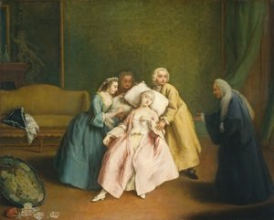 Reproduction oil paintings - Pietro Longhi - The Faint