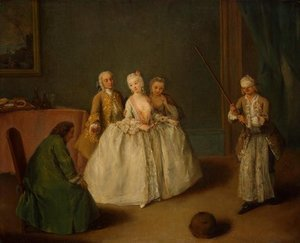 Reproduction oil paintings - Pietro Longhi - The Game of the Cooking Pot