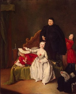 Reproduction oil paintings - Pietro Longhi - Theatrical Scene