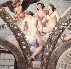 Reproduction oil paintings - Raphael - Cupid and the Three Graces