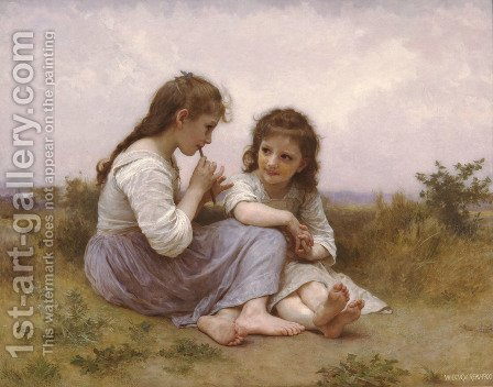 A Childhood Idyll by William-Adolphe Bouguereau - Reproduction Oil Painting