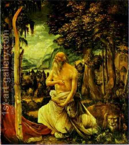 The Penitence of St. Jerome by Albrecht Altdorfer - Reproduction Oil Painting