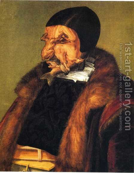 The Lawyer by Giuseppe Arcimboldo - Reproduction Oil Painting