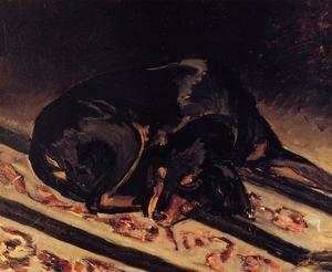 Reproduction oil paintings - Frederic Bazille - The Dog Rita Asleep