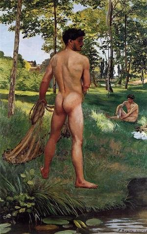Reproduction oil paintings - Frederic Bazille - Fisherman with a Net