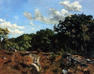 Reproduction oil paintings - Frederic Bazille - Landscape at Chailly