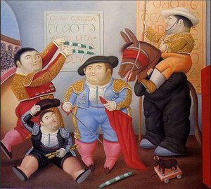 Reproduction oil paintings - Fernando Botero - Cuadrilla de enanos toreros