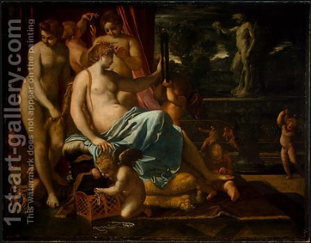 Venus Adorned by the Graces by Annibale Carracci - Reproduction Oil Painting