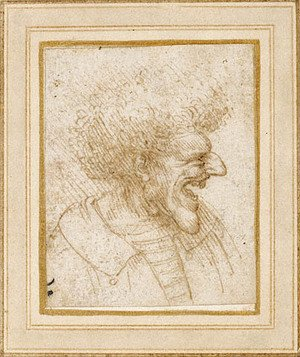 Reproduction oil paintings - Leonardo Da Vinci - Caricature of a Man with Bushy Hair