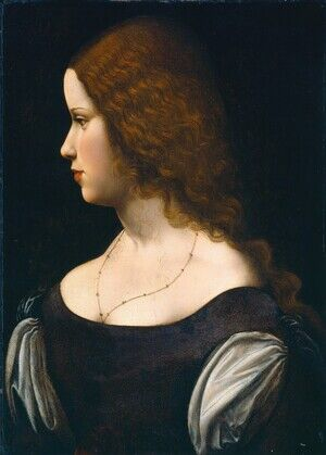 Reproduction oil paintings - Leonardo Da Vinci - Portrait of a Young Lady