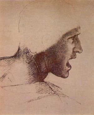 Reproduction oil paintings - Leonardo Da Vinci - Head of a Warrior