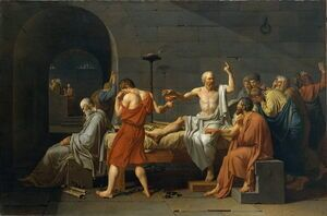 Reproduction oil paintings - Jacques Louis David - The Death of Socrates